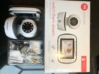 Motorola MBP41 video baby monitor with additional camera