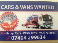 Scrap cars and vans