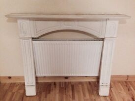 Wooden surround fireplace