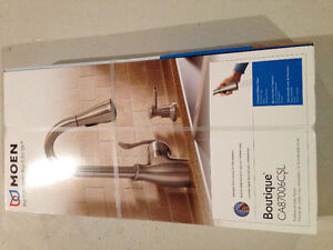 Moen Kitchen Faucet 1-Handle Pull-Down with Soap Dispenser