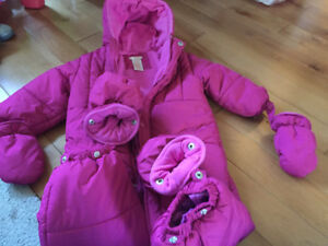 Girls size 18/24 months snow suit