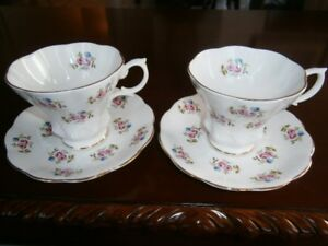 TWO ELEGANT ROYAL ALBERT CUP AND SAUCER SETS