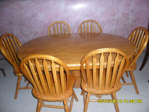 6 CHAIR   DINNING TABLE SET