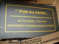 12V VINTAGE ROADSIDE EMERGENCY 40 CH. CB RADIO KIT