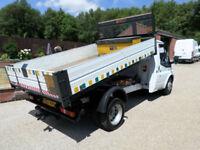 2007 Ford Transit 2.4TDCi T350, Tipper, Alluminum Dropside Tipper, 59000 Miles