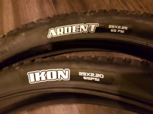 Pair of Maxxis Ikon/Ardent Tires