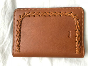 BRAND NEW Chloe passport case cover holder in tan leather