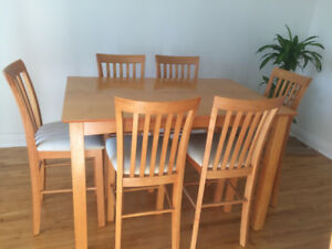 Nice Bistro Style Dining Room Set -- 6 or 8 seats