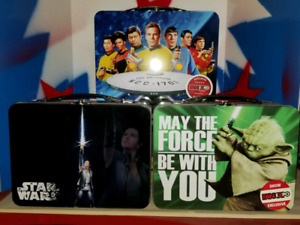 Star trek  star wars lunch boxes