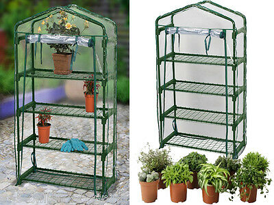 LARGE 4 TIER COLD FRAME MINI GREENHOUSE GROW HOUSE PVC COVER GARDEN OUTDOOR