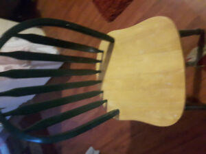 Solid wood dining chair ex condition