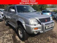 2003 03 MITSUBISHI L200 2.5 TD 4WD LWB WARRIOR 114 BHP**NO VAT** DIESEL