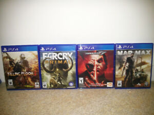 Selling Ps4 games Tekken 7, mad Max and more