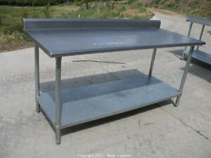 Stainless Steel Worktables With Backsplash- All Sizes Available!
