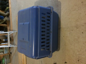 Large blue dog kennel for sale, used once for one week!