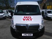 2012 VAUXHALL MOVANO VAN LWB 2.3 CDTI L3 H2 125ps Euro 4 Diesel