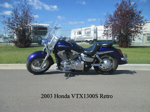 2003 Honda VTX1300S Retro Spoke - ONLY 20,800 km & CLEAN!