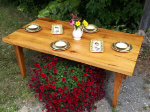 Hand-crafted Harvest Table (solid wood) PRICE REDUCED