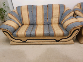 2 x 3 seater sofa & 1 chair suite