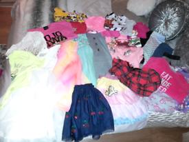 Large girls clothing bundle age 6-7