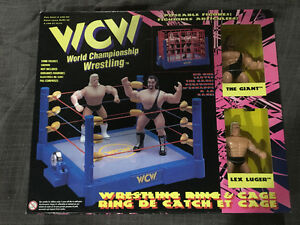 WCW Wrestling Ring and Wrestling Figures