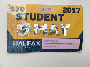MAY Student Bus pass