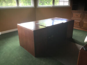 Office desk with cabinet.   2 pieces