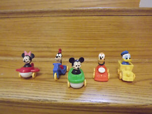 Vintage Fisher Price/Illco Disney Characters with Vehicles