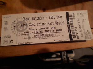 2 tickets to see Shaun majumder for sale