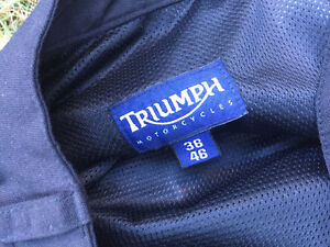 TRIUMPH MOTORCYCLE PANTS WITH REMOVABLE KNEE INSERTS
