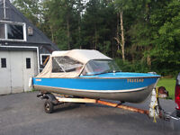 14ft Princecraft Aluminum Runabout with Downriggers