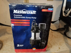 Mastercraft 1/3 hp Heavy Duty Stainless Sump Pump-New in Box
