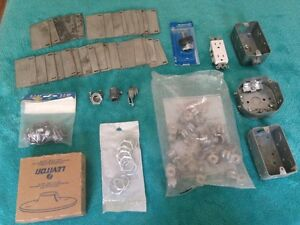 One lot of electrical stuff items - miscellaneous - boxes plates