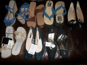 9 PAIRS OF  SHOES SIZE 10 ,8 PRS UNWORN 1 pr EUC OR Trade