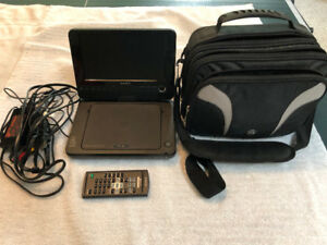 Sony portable DVD player and accessories with carry case
