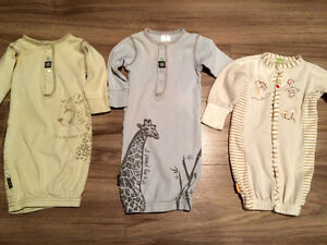 Organic cotton Kushies sleep sacks/onesies
