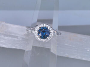 Blue Sapphire Engagement Ring - New