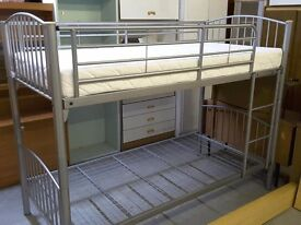 XMAS SALE NOW ON!! Metal Bunk Beds With 1 Mattress - Can Deliver For £19