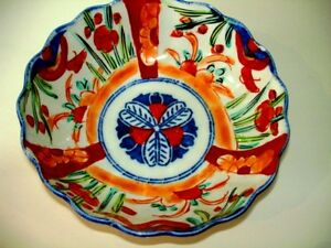 1868 – 1912 very early IMARI BOWL scalloped MEIJI PERIOD