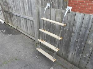 Stainless and teak Ladder