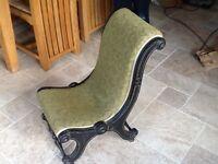Old hardwood nursing chair