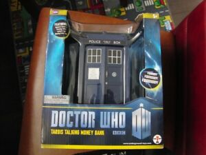 Dr Who Sci Fi TV Show Talking Bank Brand New in Box Tardis BBC