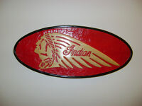 INDIAN MOTORCYCLES WOOD SIGN