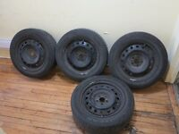Wheels with tires Goodyear 205/55/R16 Toyota Corolla Matrix