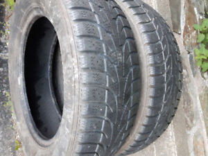 For sale two 185/65r15 winter tires, decent thread.