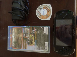 Sony PSP with 2 games sudocu and atv off road