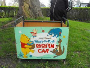 Vintage Winnie the pooh Toy cart