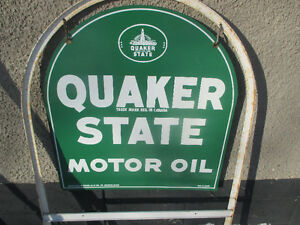Quaker State Tombstone Oil Sign Advertising