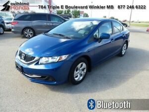 2014 Honda Civic Sedan LX  - Bluetooth -  Heated Seats - $129.36