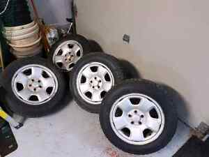 185/65r15 Studded tires on 5x100 subaru steel wheels